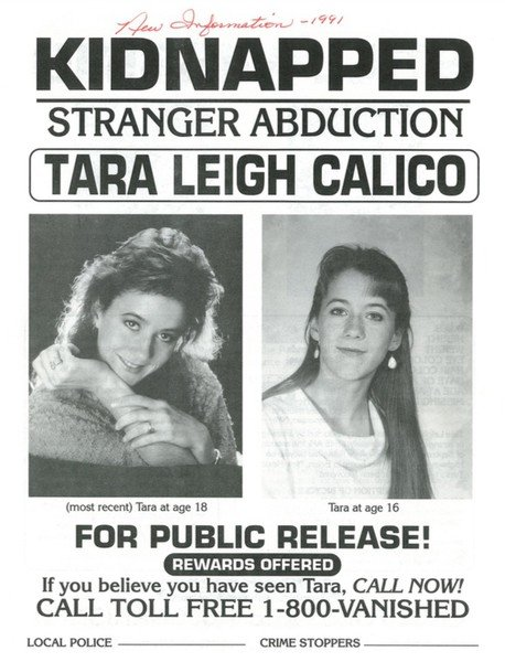 Tara Calico - search continues - Unsolved case