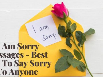 I Am Sorry Messages