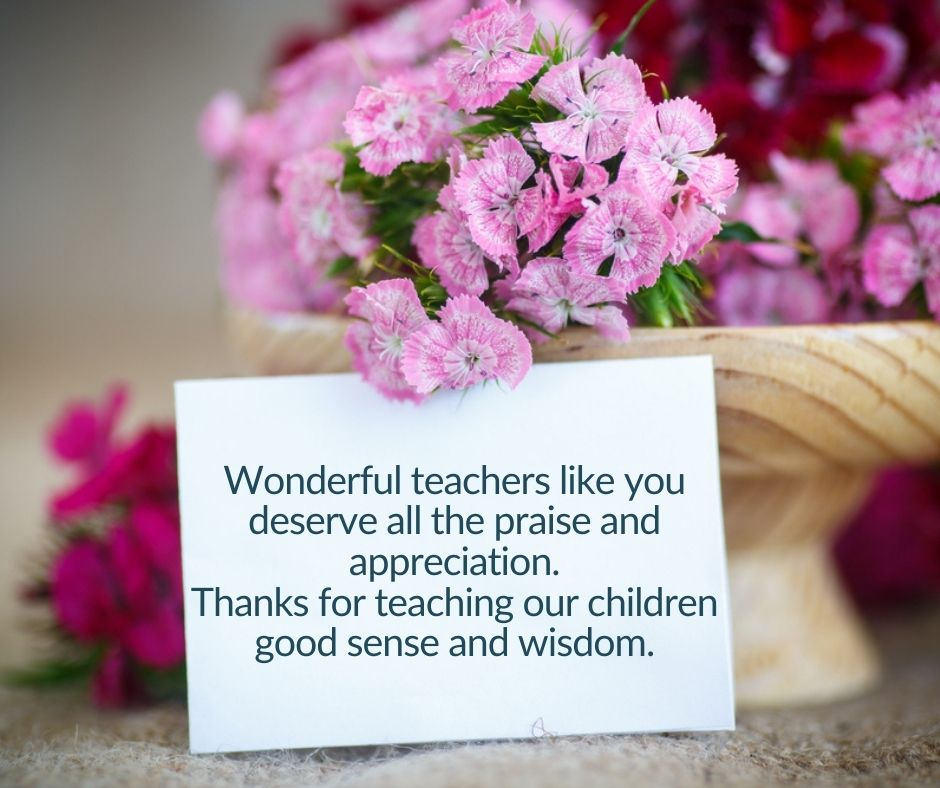 Thank You Messages For Teachers From Parents