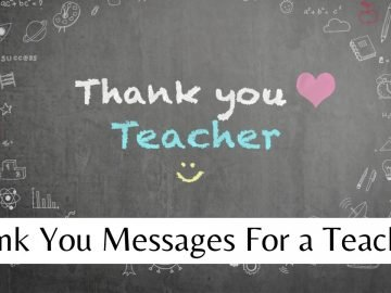 Thank You Messages For a Teacher