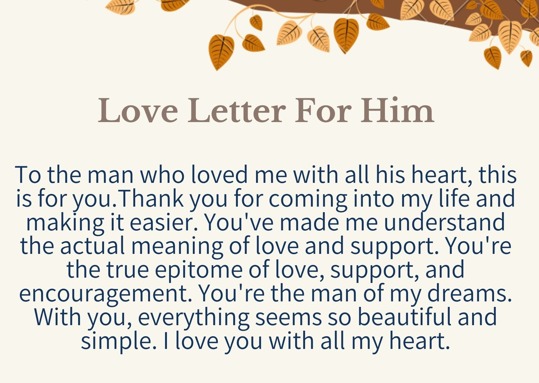 Love Letter For BoyFriend/him